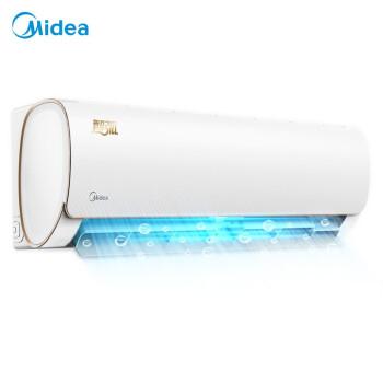 美的(Midea)エアコンは大きい1匹/1.5匹の周波数変換エアコン室外機の壁掛式寝室の寒い部屋のエアコン雲の知能は智弧KFR-35 GW/WD AA 3@1.5匹を制御します。